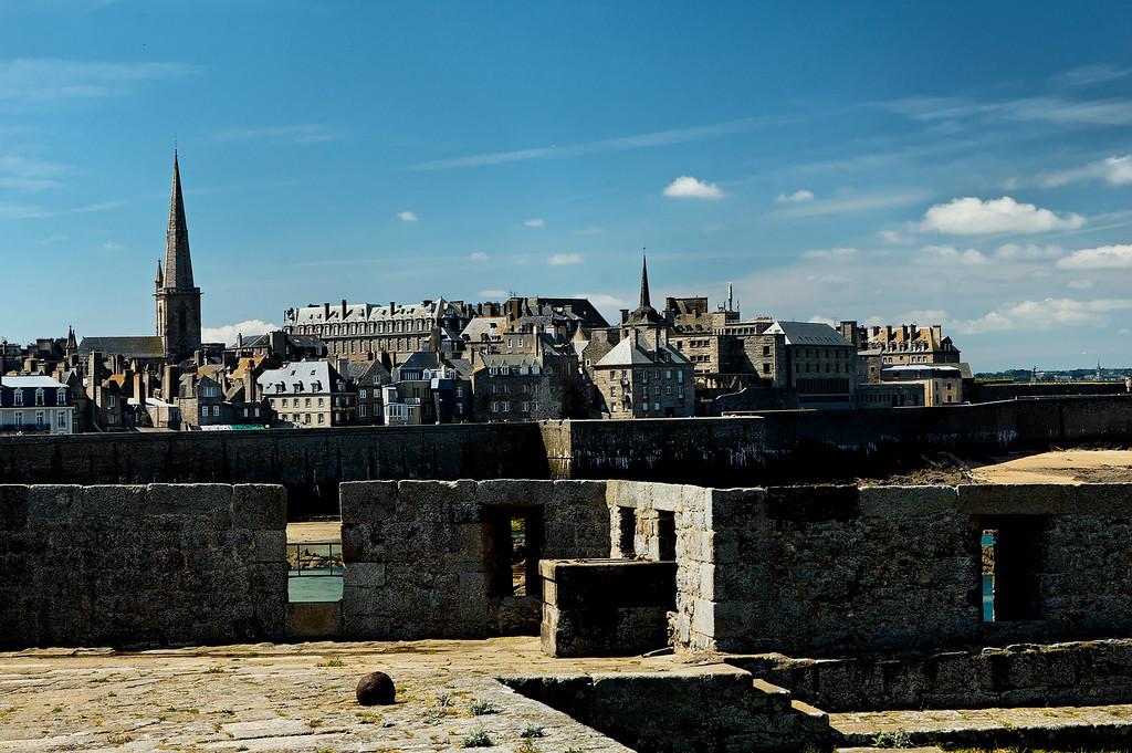 "Saint-Malo, vue depuis le fort national<br /> <br /> Saint-Malo, seen from the ""fort national"""