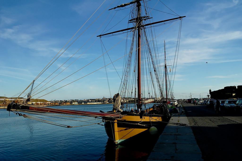 """The cotre <a href=""""http://www.cotre-corsaire-renard.com/"""">""""Le renard""""</a> (litterally """"the fox""""), a replica of the boat owned by Surcouf that won one of the last corsaire battle agains britain.   La réplique du  <a href=""""http://www.cotre-corsaire-renard.com/""""> cotre corsaire </a> le renard, armŽ par Sucouf qui gagna une des dernire bataille corsaire contre les anglais"""