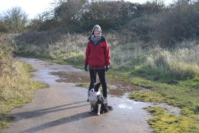 Al and Beau on first walk
