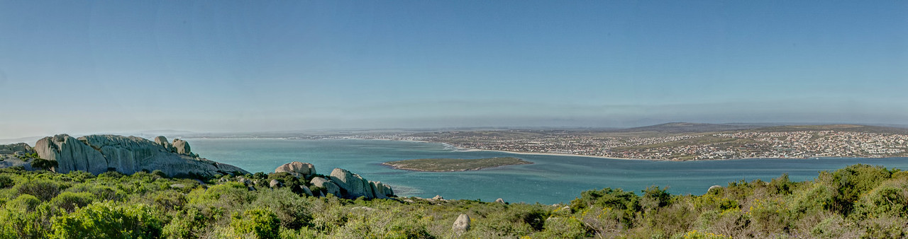 View from Postberg to Langebaan