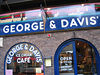 George and Davis cafe. A big mug of coffee, cream cheese bagels, the Sunday papers and ice cream..