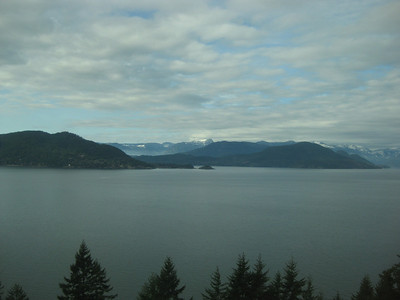 View on the road back to Vancouver
