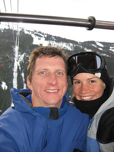 Cath and Me on Peak to Peak chair lift