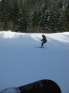 Cath Skiing down the Hill