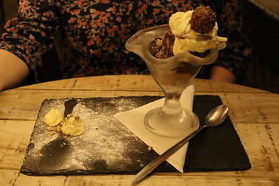 Evening Meal at The Stables at Cross Butts - Chocolate Sundae