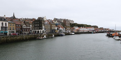 Entrance to Whitby Harbour, looking towards West Cliff