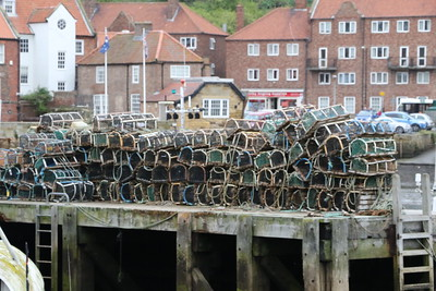 Lobster Pots stacked at Whitby Harbour