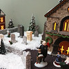 Dickens Christmas village, at the home of Andy Dufour and his wife Sandy Dufour in Windham, N.H. Dufour made the granite wall of the graveyard. (SUN/Julia Malakie)
