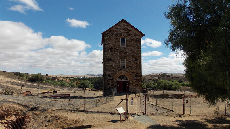 Morphett's Enginehousse. Built in 1858 it housed an 80inch diameter atmospheric beam engine used to pump the water from the mine as at this stage they had mined to a level below the water table