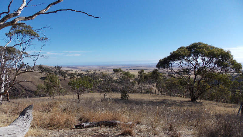 The view from the top of the Spring Gully Conservation Park