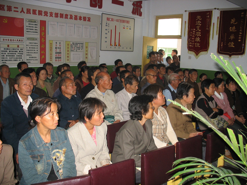 20060907_1276 Mashuang Hospital. Everyone was wide awake, in the morning anyway!