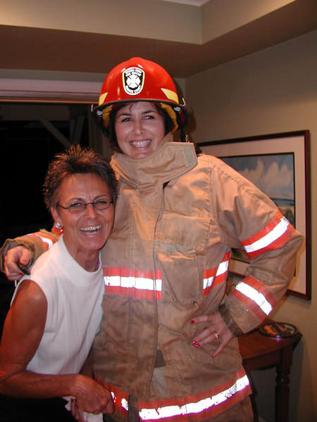 "Becky always wanted a 6'4"" fireman in the family....."