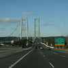 The Tacoma Narrows Bridge.