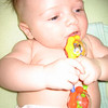 Playing with my rattle