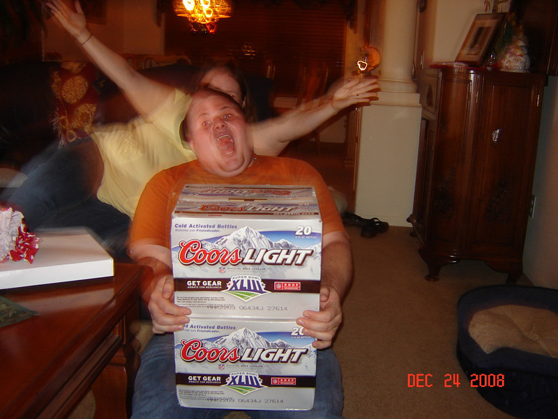 Grant's xmas gift from Alec...beer