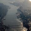 The GW Bridge.  NY on the left; NJ on the right