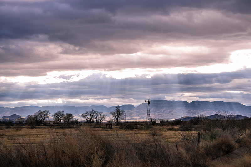 Davis Mountains Light Beam Windmill