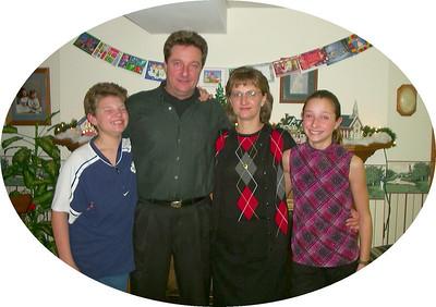 Ryan, Bob, Carol, Leeann Bellamy - Xmas 2001