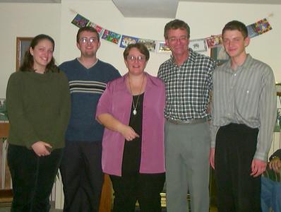 Emily, Ian, Lynn, Dave, Alex - Xmas 2001