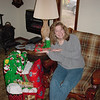 Christy and her presents 12-23-01