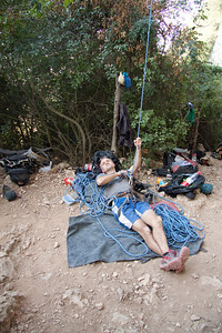 The relaxed French belay