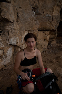 Cath ready to climb