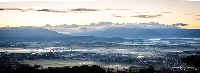 Looking over  Yarra Glen & the Yarra Valley