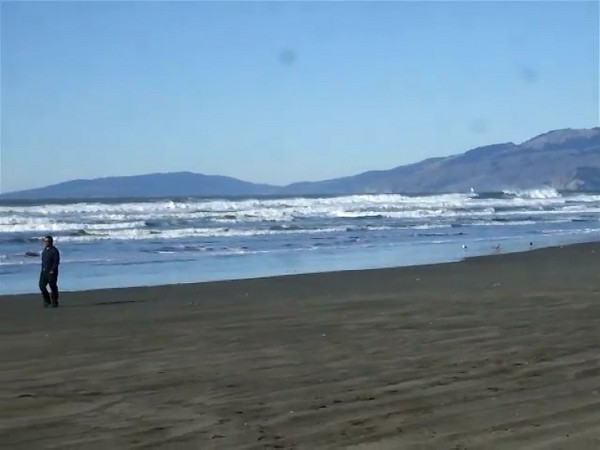 A video of the beach across from the Beach Chalet.