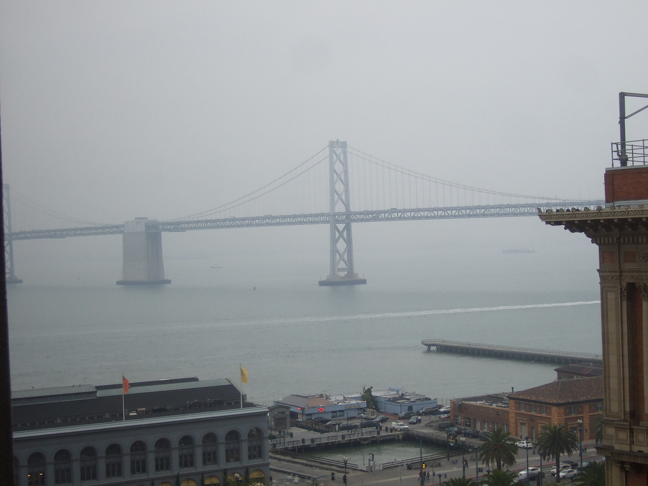 We had a foggy day in San Fransciso - imagine that. This is from our hotel room.
