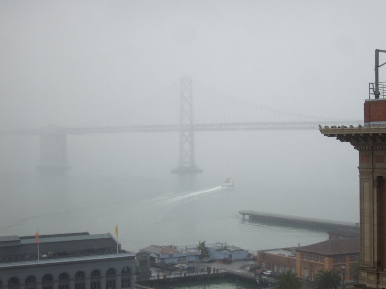 Another view of the fog from our room.