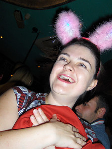 Sarah looking cute in her bunny ears :)
