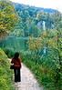 plitvice park - veena along path