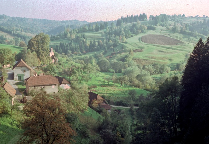 postojna region - view down valley from castle in cave (1)