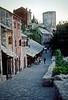 mostar - street alongside river
