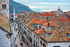 dubrovnik - view of main street from city walls (1)