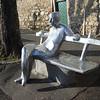Aluminum statue of AG Matos