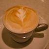Versierde cappuccino