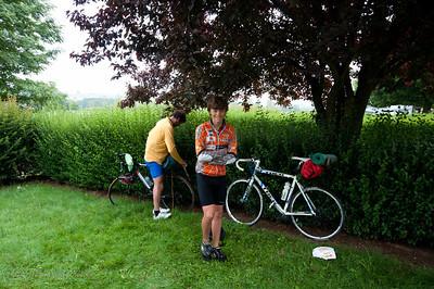 De sportiefste van de familie deden de afstand met de fiets. Dagelijks meer dan 100 km.