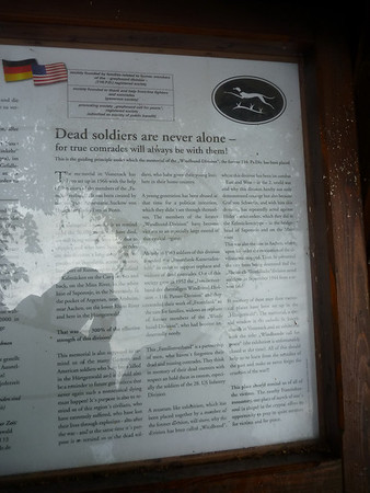 Notice board outside german millitary cemetary