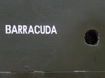 Shell hole in side of a sherman tank