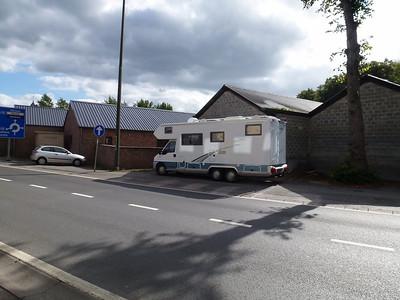 Camper parked near Bastonge barracks
