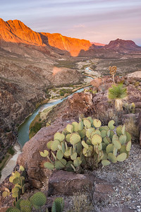 Light on the Border, Rio Grande, Big Bend