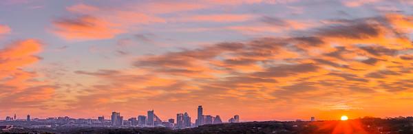 Austin Sunrise from Barton Hills