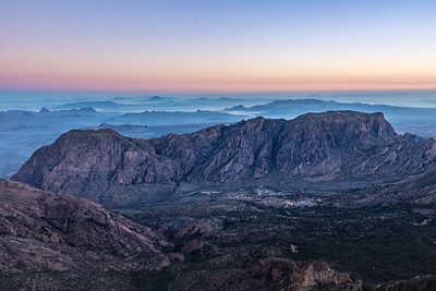 Morning Haze over Chisos Basin, Big Bend