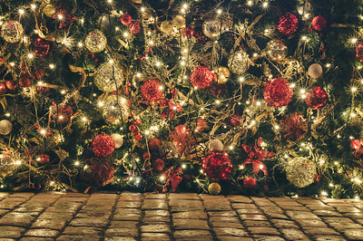 Outdoor Christmas and New Year decoration and illumination