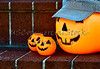 Plastic Halloween Pumpkins with Hat