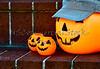 Plastic Halloween Pumpkins with Hat