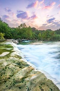 Barton Creek Waterfall, Austin