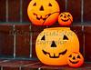 Plastic Halloween Pumpkins