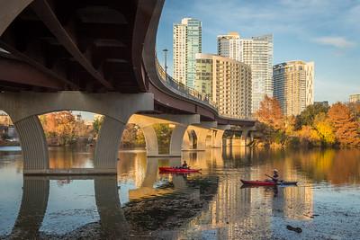 Cowboys and Kayaks, Town Lake, Austin